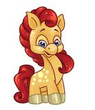 Kleine Ponykarikaturillustration Stockbilder