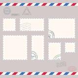 Kleine postzegels vector illustratie
