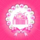 Kleine Prinzessin Background Vector Illustration Lizenzfreie Stockfotografie