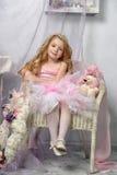 Kleine Prinzessin im Rosa Lizenzfreies Stockfoto