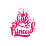 Kleine Prinzessin Kalligraphischer Flecken Einzigartige kundenspezifische Charaktere Handbeschriftung für Designe vektor abbildung