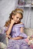 Kleine Prinzessin mit einer Tiara Stockfoto