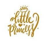 Kleine Prinzessinhandgezogene Vektorbeschriftung Netter handdrawn Entwurf stock abbildung