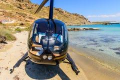 Kleine privé helikopter Stock Foto