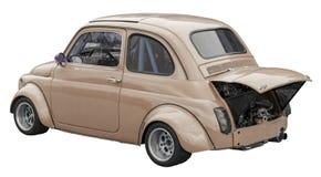 Kleine raceauto beige kleur Royalty-vrije Stock Foto