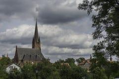 Kleine reizend Stadt Drezdenko in Lubuskie - Polen Stockfoto