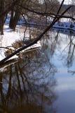 Kleine rivier in de lente Royalty-vrije Stock Afbeelding