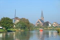 Kleine rivier in Holland Stock Afbeeldingen
