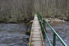Kleine rivier overgang Stock Afbeelding