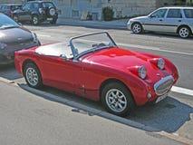 Kleine rode Britse sportwagen Royalty-vrije Stock Fotografie