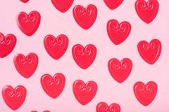Kleine rode harten royalty-vrije stock foto