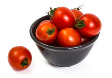 Kleine rode tomaten Stock Afbeelding