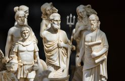 Kleine Roman beeldjes stock foto