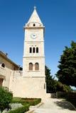 Kleine romantische historische kerk Stock Afbeeldingen