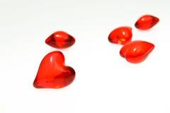 Kleine rote Innere des Valentinsgrußes Stockfotos