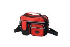 Kleine rote Segeltuchhandtasche Lizenzfreie Stockbilder