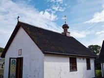Kleine Russische kerk met uikoepel Royalty-vrije Stock Foto's