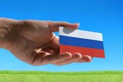 Kleine Russische vlag Royalty-vrije Stock Foto's