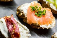 Kleine sandwiches Royalty-vrije Stock Fotografie
