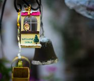 Kleine santa binnenshuis Stock Afbeelding