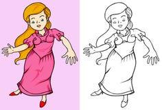 Kleine schöne Prinzessin Stockbild