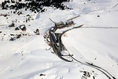 Kleine Scheidegg Switzerland Alps winter sports skiing mountains Stock Photography