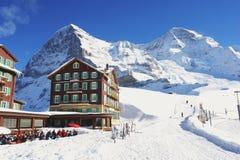 Kleine Scheidegg, Zwitserland Stock Afbeelding