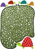 Kleine Schildkröten und Mutter-Labyrinth-Labyrinth Stockbild