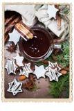 Kleine Schokoladen-Weihnachtsplätzchen-Stern-Form-Schale Stockbilder