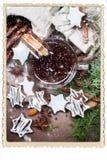 Kleine Schokoladen-Weihnachtsplätzchen-Stern-Form-Schale Stockfotografie