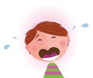 Kleine schreeuwende jongen Royalty-vrije Stock Foto