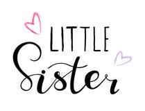 Kleine Schwester Entwurf für Babyt-shirts, onesie lizenzfreie abbildung