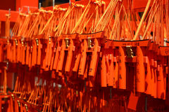 Kleine shintoistische Tore in Kyoto lizenzfreie stockfotografie
