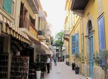 Kleine Shops in Nikosia, Zypern lizenzfreie stockfotos