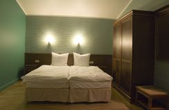 Kleine slaapkamer Royalty-vrije Stock Afbeelding
