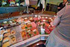 In kleine slagerij in Frankrijk Royalty-vrije Stock Foto's