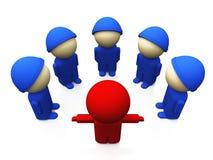 Kleine Soldaten rot und Blau 01 Stockbild