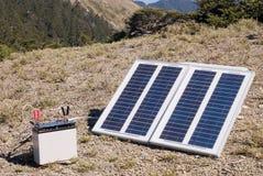 Kleine Sonnenenergie innen draußen Stockfotos