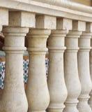 Kleine Spalten konzipieren entlang Veranda an flachem DOF Stockbild