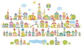 Kleine Spielzeugstadt stock abbildung