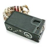 Kleine Spionagefotokamera und -film Stockfotos
