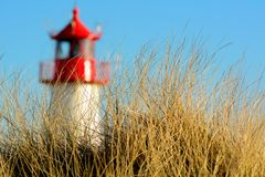 Kleine Spitze des Leuchtturmes an der Dämmerung Lizenzfreie Stockfotografie