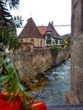 Kleine Städte verziert für Weihnachten Straßburg - Elsass, Frankreich Stockfotos