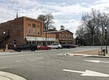Kleine stad stock fotografie