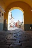 Kleine stad Buzet royalty-vrije stock afbeelding