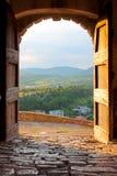 Kleine stad Buzet stock afbeeldingen