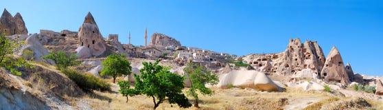 Kleine stad in Cappadocia Royalty-vrije Stock Fotografie