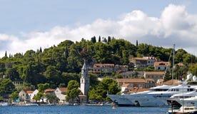 Kleine stad Cavtat Royalty-vrije Stock Foto