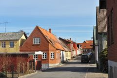 Kleine stad in Denemarken Royalty-vrije Stock Afbeelding