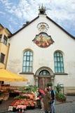 Kleine Stad, Feldkirch, Oostenrijk Stock Foto